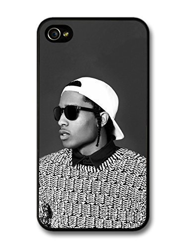 fashion case ASAP Rocky Black and White Portrait with Sunglasses case for iphone 5 - Rocky Sunglasses