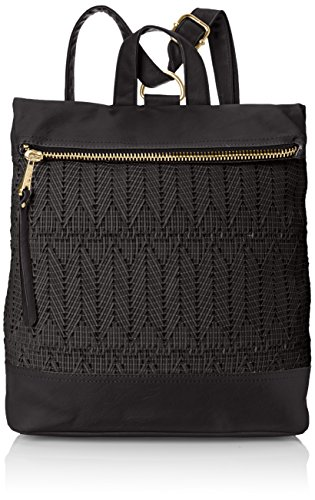 (POVERTY FLATS by rian Woven Backpack, Black, One Size)
