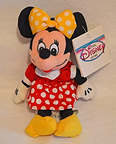 Disney Minnie Mouse Mini Bean Bag Plush - Red Dress - Bean Bag Plush Minnie Mouse