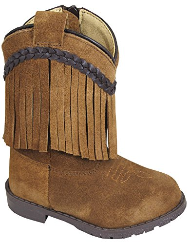 Smoky Infant Girls Hopalong Zip Up Fringe Tan Western ()