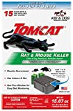 Tomcat Rat & Mouse Killer Refillable Bait Station - Child & Dog Resistant (1 Station, with 15...
