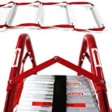 HYNAWIN Portable Fire Ladder 5 & 6 Story Emergency Escape Ladder 50 Foot with Wide Steps V Center Support