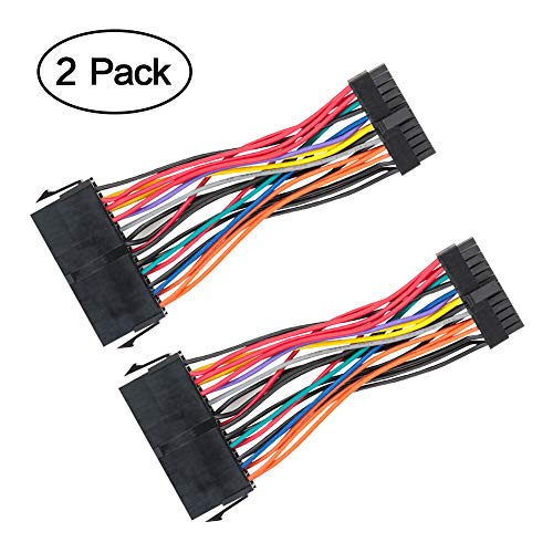 ATX Power Cable, VANDESAIL 24 Pin to Mini 24 Pin ATX Main Power Supply Adapter Cable DELL 780 980 760 960 Workstation 2Pack 10cm