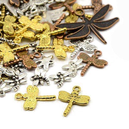 - HA07345 - Charming Beads Paket 30 Gramm Gemischt Tibetanische Zuf/ällige/Mischung Charms Libelle