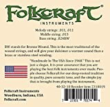 Folkcraft Brand Mountain Dulcimer String Set, Ball Ends