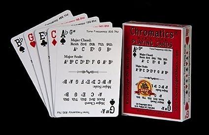 Amazon.com: Chromatics Música Juego de cartas (1 Deck ...