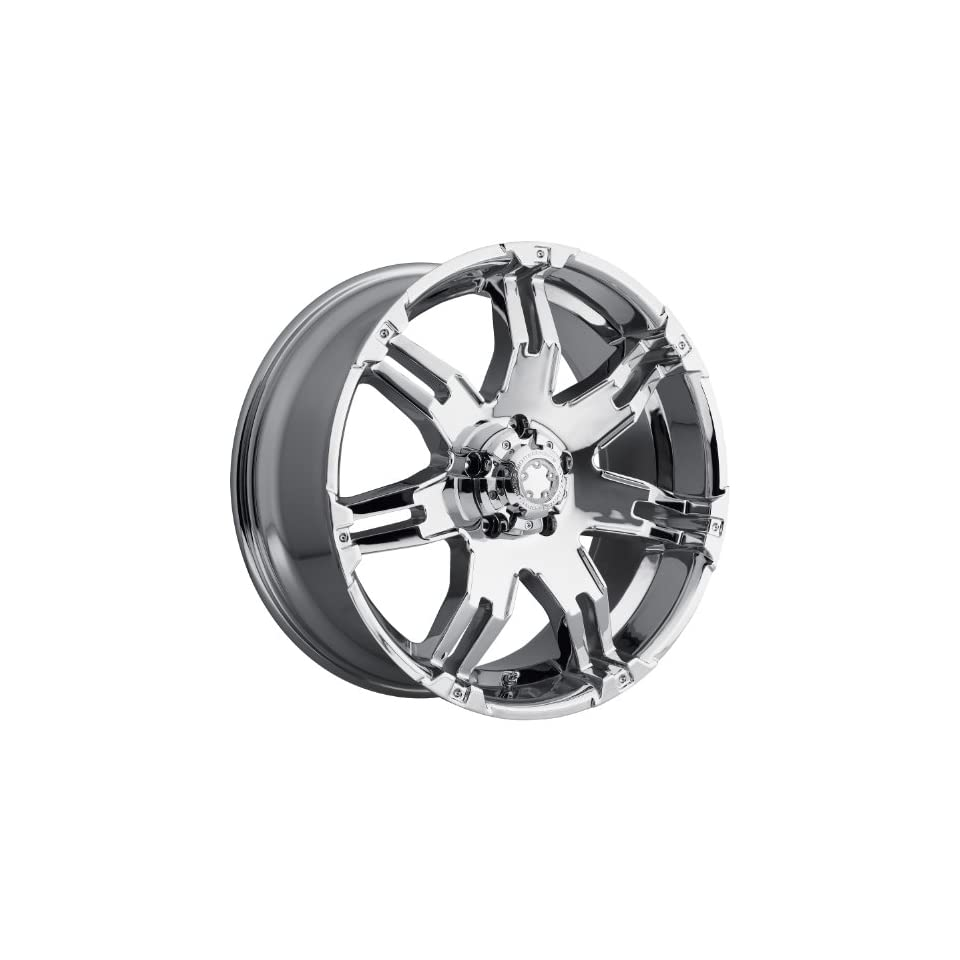 Ultra Gauntlet 16 Chrome Wheel / Rim 5x5 with a 10mm Offset and a 78 Hub Bore. Partnumber 238 6873C