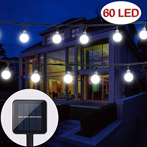 BAOANT Solar String Lights 36Ft 60 LED Crystal Ball Waterproof String Lights Solar Powered Fairy Lighting for Garden Home Patio Landscape Holiday Decorations(White) from BAOANT