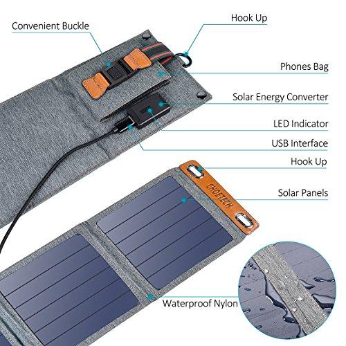 Choetech Solar Charger 14w Portable Solar Panel