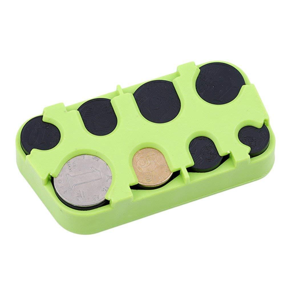 Premium Quality Euro Coin Storage Box Mini Coin Dispenser Organizer Keep Your Change Tidy,Green Vektenxi