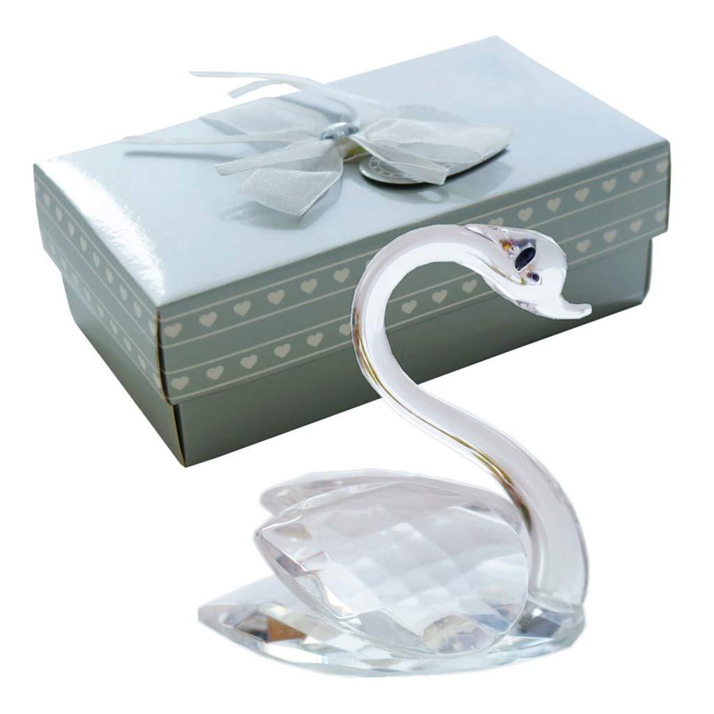 Mini Cisne Elecci/ón de Cristal con Delicada Caja Adornos para Mesa Oficina Coche Favores de Boda