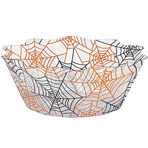 Creative Converting 12-Count Fluted Plastic Bowls, Spiderwebs]()