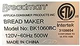 Breadman Professional Models BK1050S BK1060BC