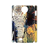 Shell Women Printing Colorful Elephant Drawing 2 Plastic For Galaxy S4 Samsung Shockproof