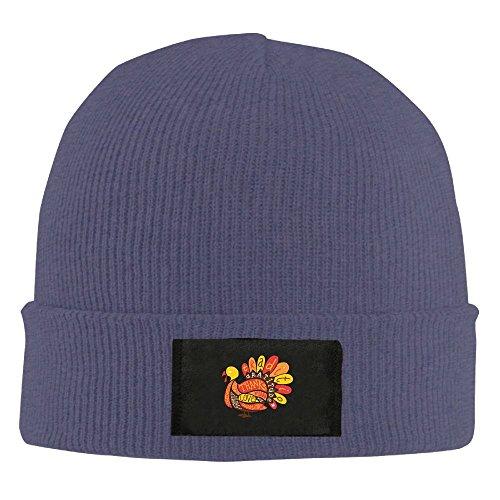 - HR Adult's Happy Thanksgiving Turkey Elastic Knitted Beanie Cap Winter Warm Skull Hats