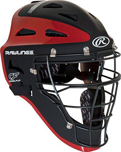Rawlings Sporting Goods Youth Velo Series Catchers Helmet, Black/Scarlet, 6 1/2-7'' by Rawlings