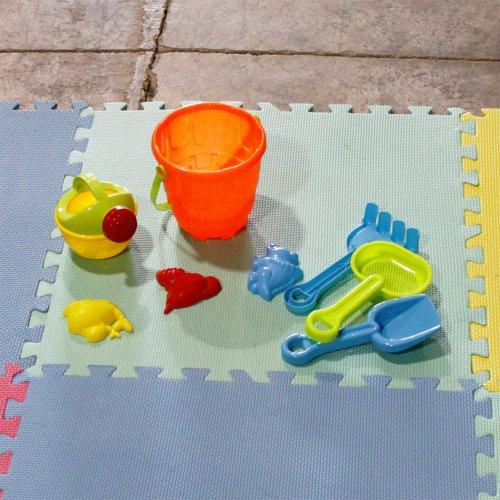16 Piece EVA Foam Floor Interlocking Excercise Activity Gym Mat Puzle Set 64 Sq Ft