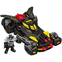 Imaginext DC Super Friends Legends of Batman Deluxe Batmobile,Black, Yellow