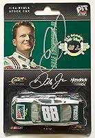 2008 Dale Earnhardt Jr Signed Retro Mountain Dew 1/64 Diecast Action Car #3 - Autographed Diecast Cars from Sports Memorabilia