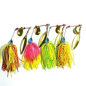 MELIP Spinnerbait Fishing Hard Spinner Pike Bass 4pac 17g
