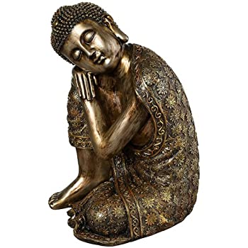 Brushed Gold 14 1/2u0026quot; High Sleeping Buddha Statue  sc 1 st  Amazon.com & Amazon.com: Sleeping Buddha Statue / Tibetan: Home u0026 Kitchen islam-shia.org