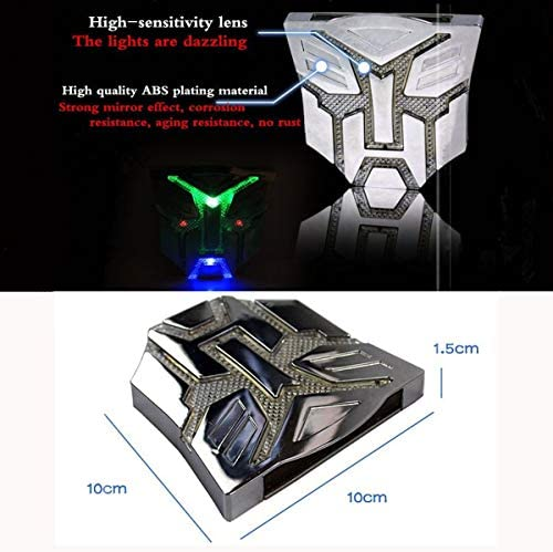 HengJia Auto Parts Car Solar energy LED Transformers Metal 3D Emblem led Styling Warning Lamp-Decepticons