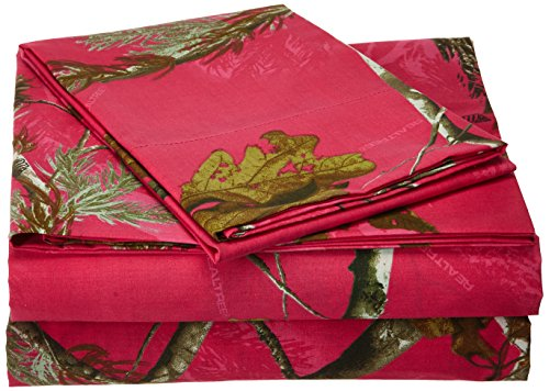 Kimlor Mills Realtree APC Sheet Set, Twin, Fuchsia