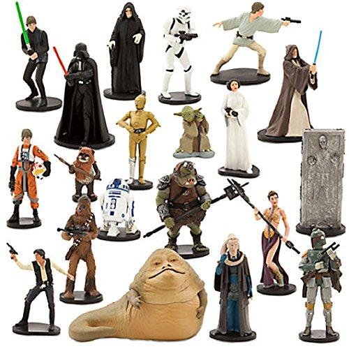 Disney Store Star Wars Mega Figure 20 Piece Play Set - Slave Leia Costume Disney