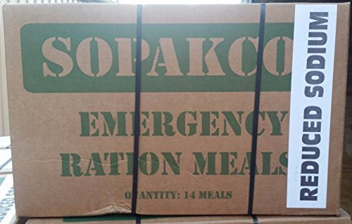 Sopakco MRE Meals Ready To Eat Case Pack of 14 For Survival And Emergency Green Box (Best Greens To Eat)
