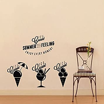 Wall Decals Ice Cream Summer Feeling Decal Vinyl Sticker Cafe - Window decals amazon