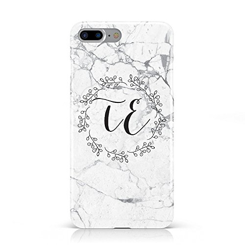 (SearchING Personalised Initials Scroll Marble Mobile Phone CASE for Apple iPhone 8 Plus)