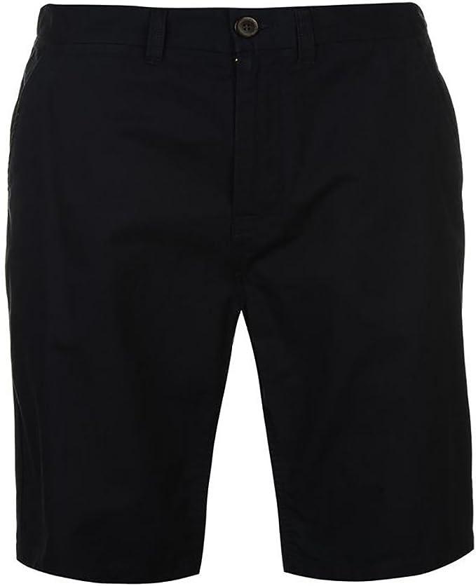 TALLA M. Pierre Cardin Hombre Pantalones Cortos Clásicos Chino 100% Algodón con 5 Bolsillos Botón y Cierre de Cremallera Button