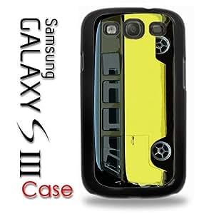 Samsung Galaxy S3 Plastic Case - Yellow Slammed VW Bus Black Top Panel Bus Custom
