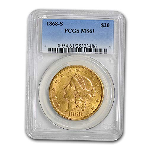 1868 S $20 Liberty Gold Double Eagle MS-61 PCGS G$20 MS-61 PCGS
