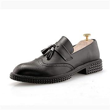 Jusheng Moda Oxford de los Hombres Casual Low-Top Flores clásicas con Flecos Retro Zapatos Brogue Retro (Color : Negro, tamaño : 43 EU): Amazon.es: Hogar