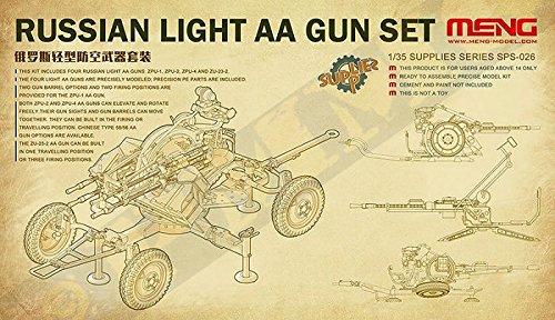 Meng 1:35 Russian ZPU-1/2/4 ZU-23-2 Light AA Gun Set Plastic Model Kit #SPS026