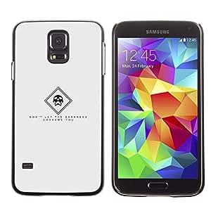 TaiTech / Prima Delgada SLIM Casa Carcasa Funda Case Bandera Cover Armor Shell PC / Aliminium - Oscuridad - Samsung Galaxy S5