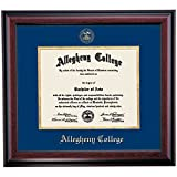 Campus Linens Allegheny Gators Diploma Frame Blue Gold Matting Embossed Seal