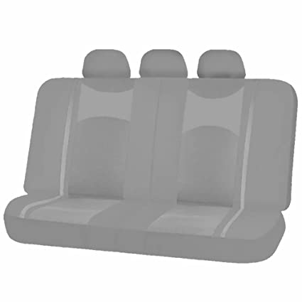 Magnificent Uaa Inc Mesh Honeycomb Back Split Bench Seat Cover Headrest Covers Set For Car Truck Suvs Solid Gray Caraccident5 Cool Chair Designs And Ideas Caraccident5Info