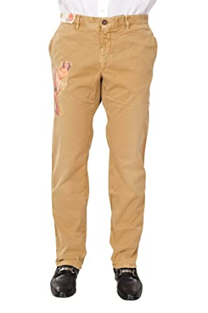 f30feb16f7ae3 Incotex Pantalon Homme 42 Brun Clair Cotton Taille Normale Coupe ...