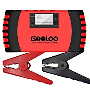 #LightningDeal 87% claimed: GOOLOO 800A Peak 18000mAh Car Jump Starter (Up to 7.0L Gas or 5.5L Diesel Engine) Portable Power Pack Auto Battery Booster Phone Charger Built-in LED Light and Smart Protection