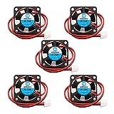 30mm fan - WINSINN 3010 12V DC Cooling Fan 30mm 30x30x10mm for DIY 3D Printer Extruder Hotend V6 V5 CPU Arduino - 2Pin 0.1A 1.2W 9000+-10% RPM (Pack of 5Pcs)