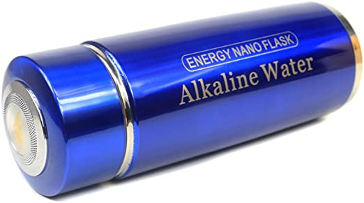 Portable Alkaline water filter Nano Energy Ionizer Flask Health Cup//Bottle Double filtro Blue