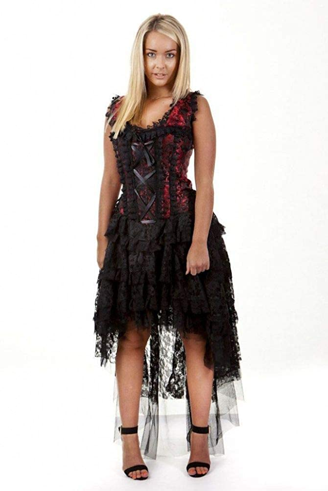 Burleska Plus Size Ophelie Gothic Red King Brocade Lace ...