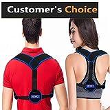 HOKI Posture Corrector for Women Men Kids,Update Strong Support Back Brace,Adjustable Posture Brace,Comfortable & Breathable Shoulder Brace Clavicle Support