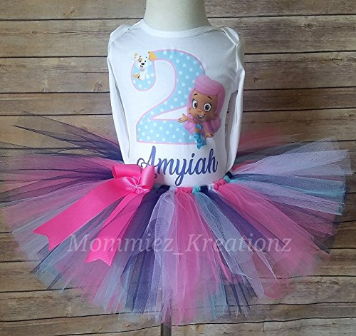 Bubble Guppies Tutu Set, Molly Birthday Outfit, Bubble Guppies Birthday by Mommiez_Kreationz