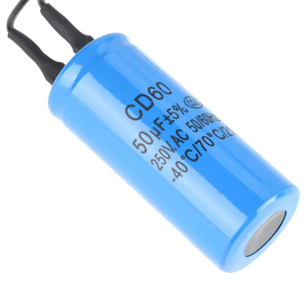 Motor eléctrico universal, CD60 Run condensador con cable 250 V AC 50uF 50/60Hz para motor compresor de aire.: Amazon.es: Industria, empresas y ciencia