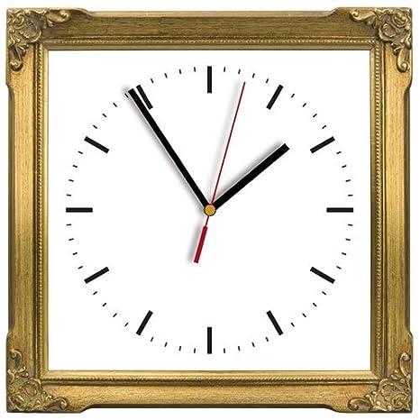 My reloj de cocina dorado reloj relojes relojes de pared: Amazon.es: Hogar