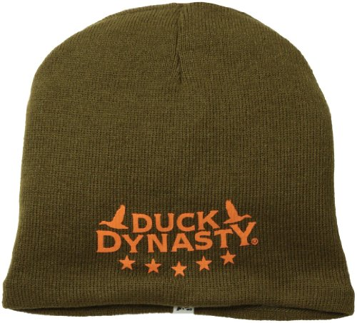 Duck Dynasty Men's Camo Reversible Beanie, Brown, One Size