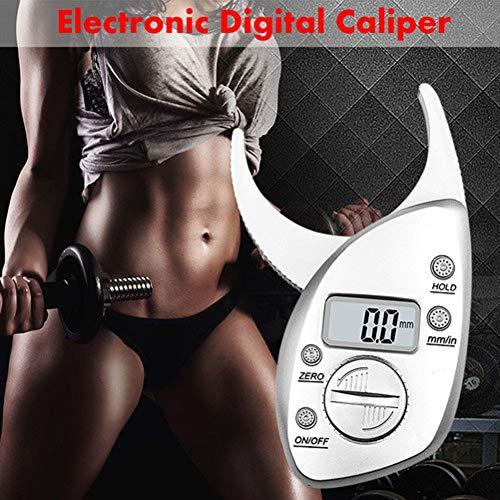 (Digital Body Fat Caliper Calculator Skin Fold Analyzer Large LCD Display Measuring Tool Measure Weight Loss Calculator Clips Electronic Handheld Tester Analyzer)